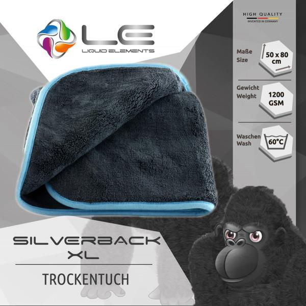 Liquid Elements Trockentuch Mikrofaser - Silverback XL - Sehr dick