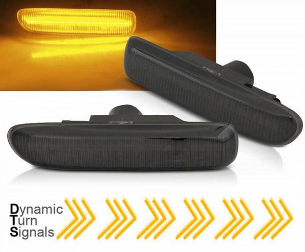Dynamische LED Seitenblinker Set smoke für BMW E46 1998 - 2004