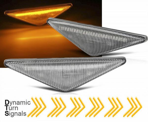 Dynamische LED Seitenblinker Set für Ford Focus MK1 Mondeo MK3 weiß