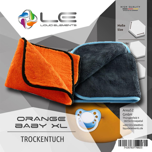 Liquid Elements Silverback XL + Orange Baby XL Trockentuch Mikrofaser trockenen polieren