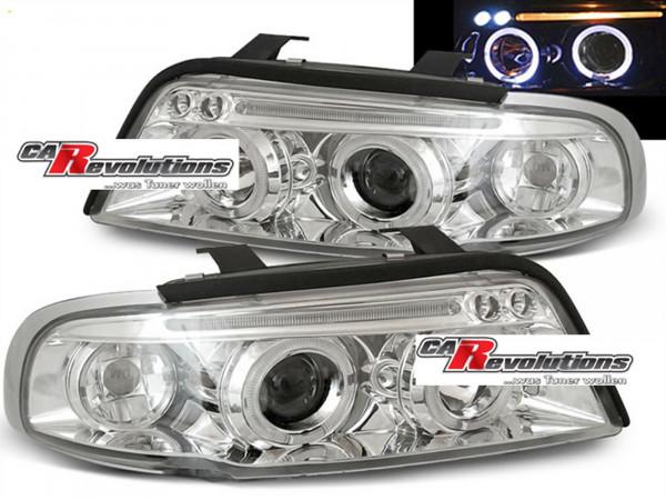Audi A4 11.94-12.98 - LED Angel Eyes Scheinwerfer in chrom