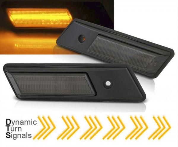 Dynamische LED Seitenblinker Set smoke für BMW E34/E32/E36 12.90-09.96