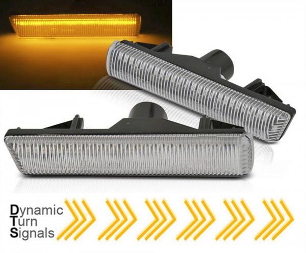 Dynamische LED Seitenblinker Set in weiß für BMW E38 94-01