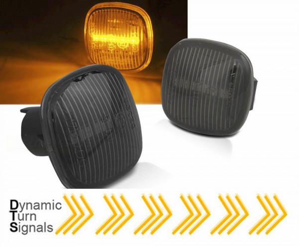 Dynamische LED Seitenblinker Set smoke für Audi A3 8L A4 B5 Skoda Fabia Ocativa