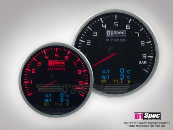 4In1 Anzeige D1 Spec - Ladedruck, Öltemperatur, Öldruck, Wassertemperatur