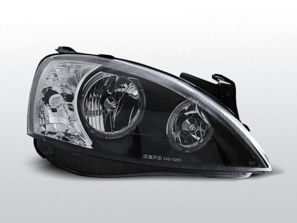 2 x Scheinwerfer Corsa C 01-06 Angel Eyes black//schwarz