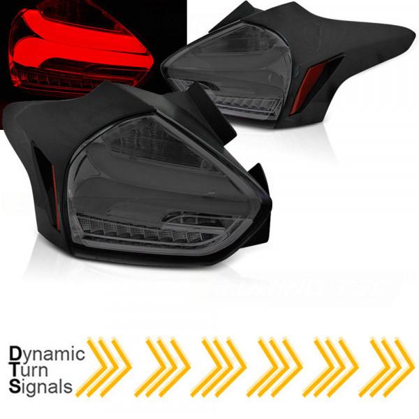 Voll LED Rückleuchten dynamische Blinker für Ford Focus MK3 ab 2014 smoke