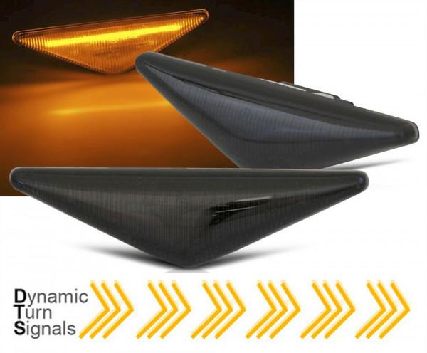 Dynamische LED Seitenblinker Set für Ford Focus MK1 Mondeo MK3 smoke