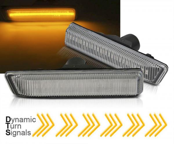 Dynamische LED Seitenblinker Set weiß für BMW X5 E53 99-06