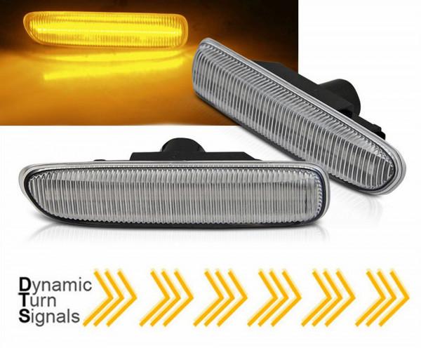 Dynamische LED Seitenblinker Set weiß für BMW E46 1998 - 2004
